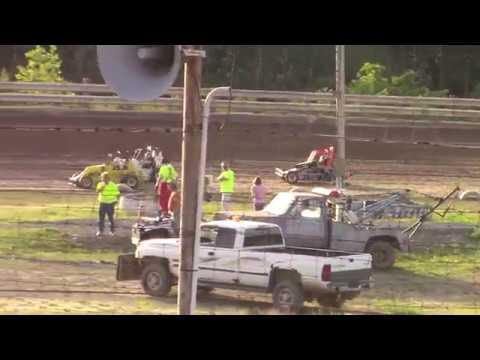 Hummingbird Speedway (6-8-19): Young Gun Jr Sprint Heat Race #2 - Stock Class