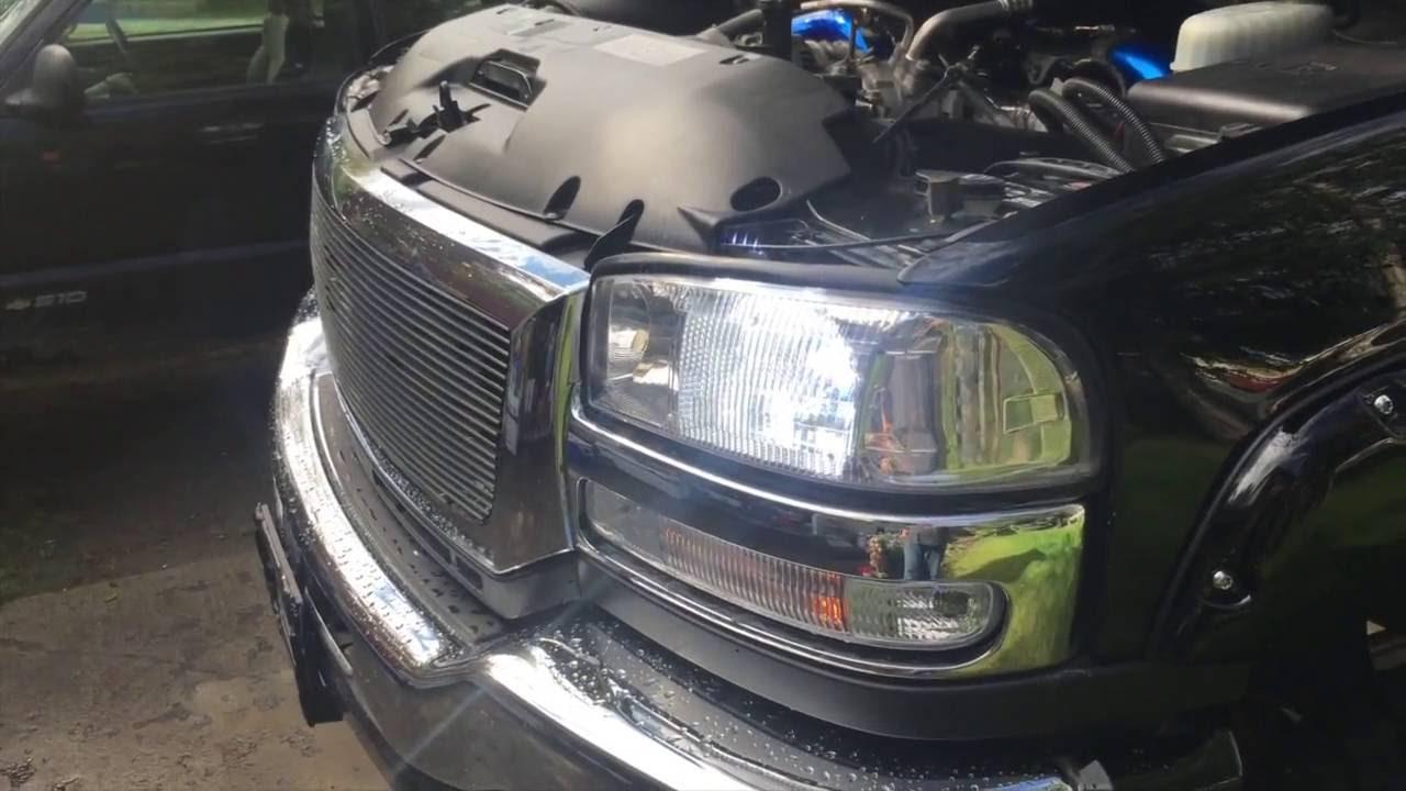 installing opt7 led headlights and fog lights in my gmc sierra duramax [ 1280 x 720 Pixel ]
