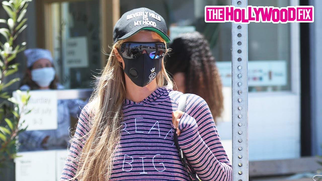 Paris Hilton Rocks A 'Beverly Hills Is My Hood' Hat While On A Juice Run With Boyfriend Carter Reum
