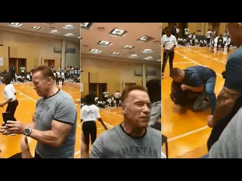 Frankie and Jess - Arnold Schwarzenegger gets drop kicked by a crazy person!