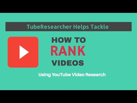Video SEO | TubeResearcher | Research and Improve Rank in YouTube