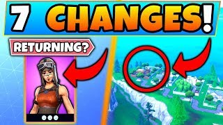 Fortnite Update: RENEGADE RAIDER RETURNING?! + Map Changes! - 7 Secret CHANGES in Battle Royale!