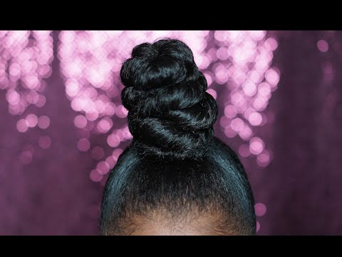 Twisted Ninja Bun on super short hair | SheemaJtv