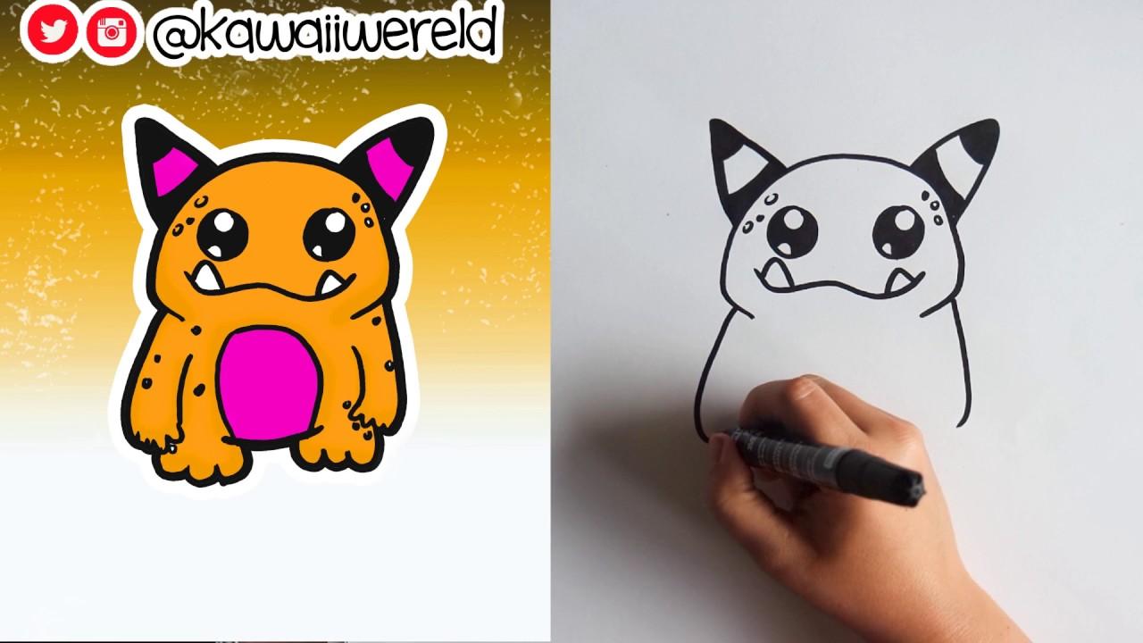 Hoe teken je een monster leren tekenen voor beginners youtube - Hoe sluit je een pergola ...
