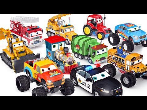 Wheels On The Bus | Cars Toys ft Monster truck School bus Po