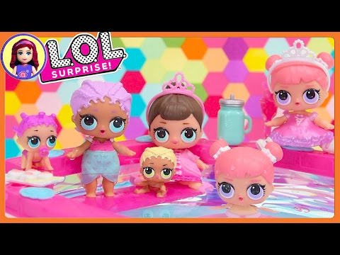 LOL Surprise Dolls Wave 2 Mermaid Twin Babies Ultra Rare In Barbie Pool Kids Toys