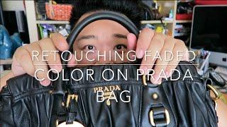 Simple Handbag Color Refresh/Repair on Prada Gaufre Tote - Featuring Angelus Leather Dye