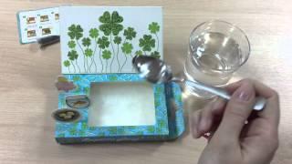 "Happy Plant Обзор живой открытки ""Вырасти удачу!  (клевер) """
