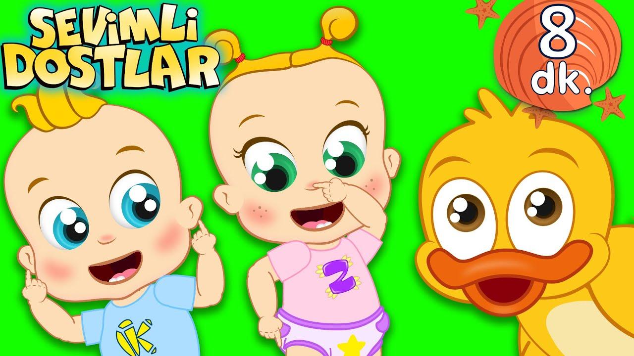 Ağız Burun Kulak ve Sevimli Dostlar bebek şarkıları | Çocuk şarkıları | Adisebaba TV Nursery Rhymes