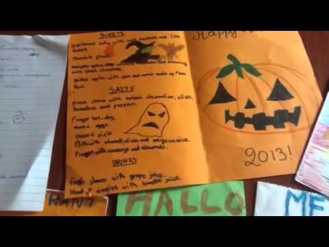 Halloween menus - YouTube