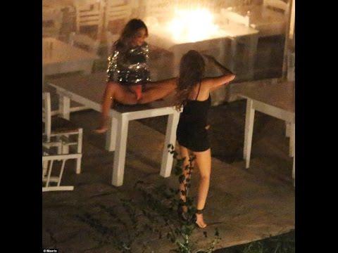 Nicole Scherzinger Drunk dancing with friends and Pajtim Kasami wildeparty