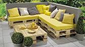 Le salon de Jardin ( fabrication maison ) - YouTube