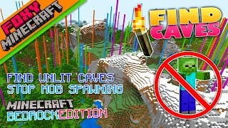Tutorial | FIND UNLIT CAVES | How To Minecraft Bedrock Edition 1.5