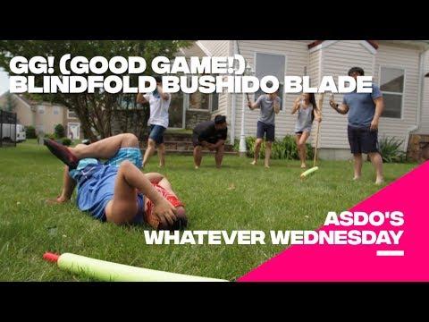 Blindfold Pool Noodle Foam Sword Fight Or Blindfold Bushido Blade! GG!