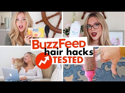Buzzfeed Hair Hacks Tested! | 10 Hair Styling Hacks