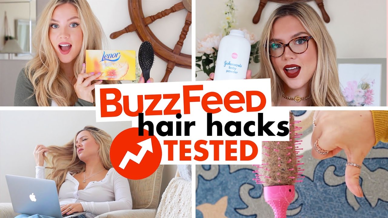 hair styling hacks buzzfeed hair hacks tested 10 hair styling hacks 7083