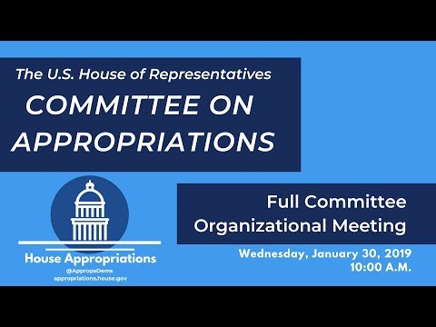 Meeting: Full Committee Organizational Meeting of the Committee on Appropriations (EventID=108826)