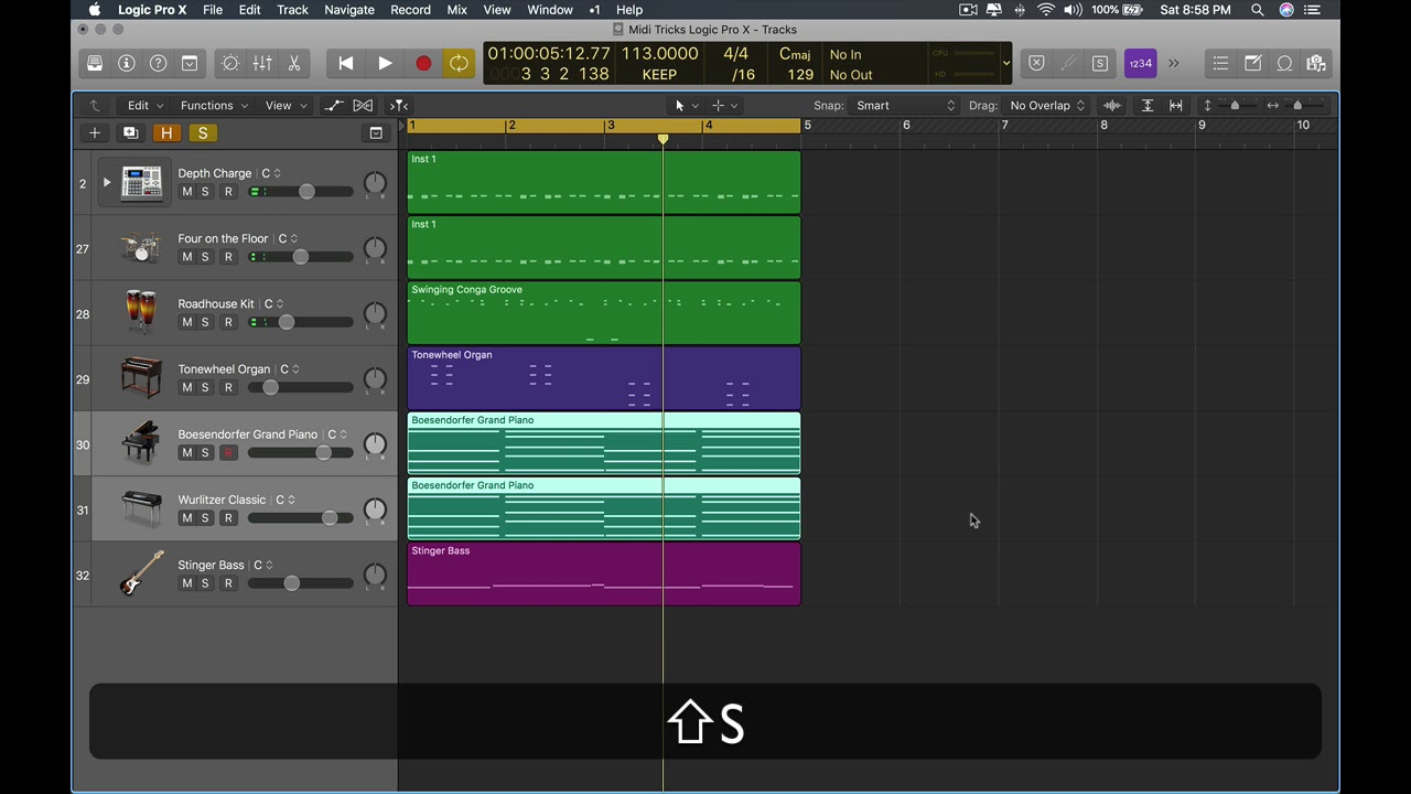 Tips and Tricks: How To Make Your Midi Groove using Logic Pro X