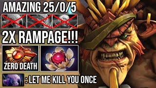 When Bristleback Got Out of Control Even Fountain Can't Hurt - 9Min Godlike Rampage Zero Death DotA2