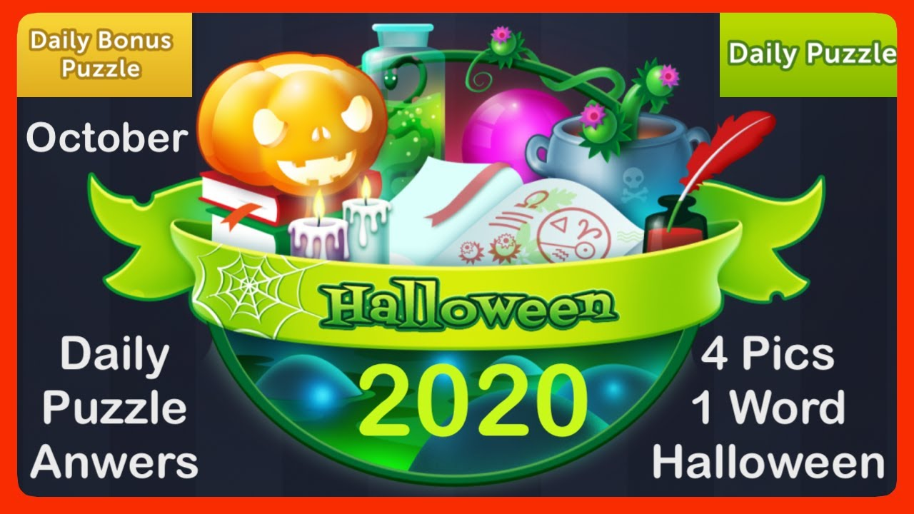 4pics1word Halloween 2020 4 Pics 1 Word   Halloween   October 2020   Daily Puzzle + Daily