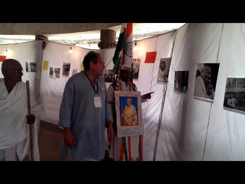 Gandhiji visits the photo exhibition
