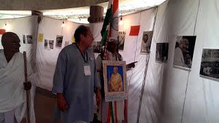 Gandhiji visits the photo exhibition ''Mahatma Gandhi's life in colour''