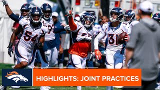 Highlights from the Broncos' first joint practice with the 49ers