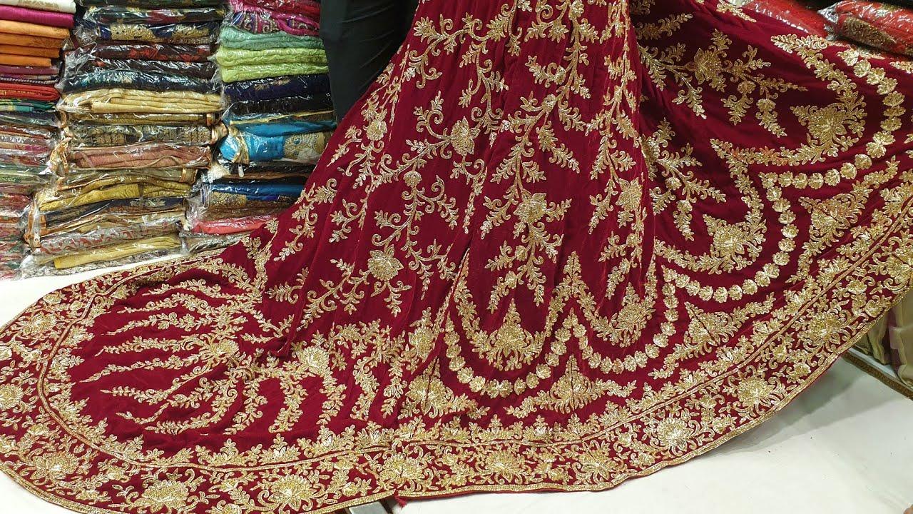 Lahari LEHENGA designer zardosi work bridal collection available - YouTube