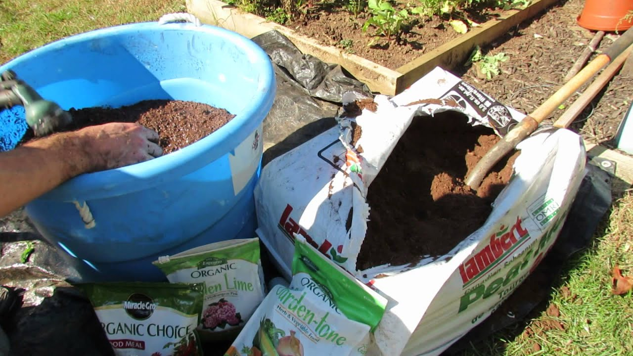 How To Organically Prepare Peat Moss For Container Raised Bed