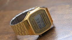 Casio A168WG-9 Retro Gold Watch Review