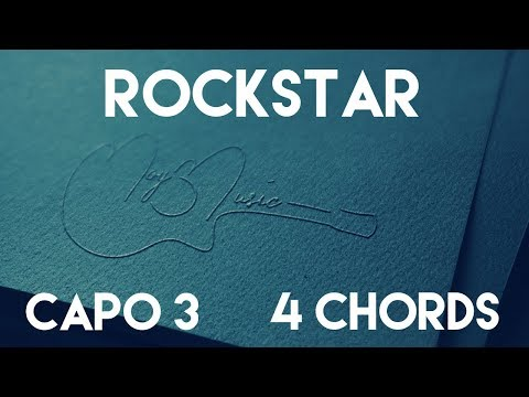 How To Play rockstar feat. 21 Savage by Post Malone | Capo 3 (4 Chords) Guitar Lesson