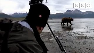 A grizzly bear threatens the crew - Great Bear Stakeout - Episode 2 - BBC One