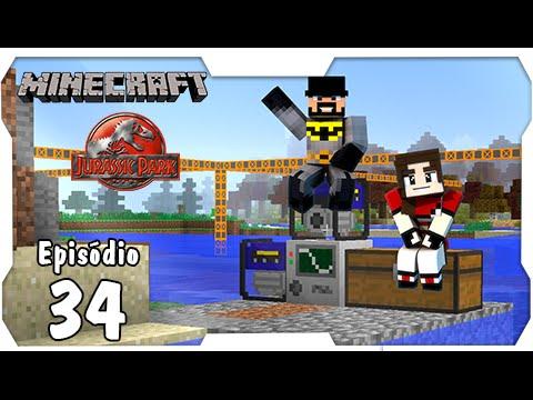 Minecraft Jurassic Park #34: Fazendo a Danada da Quarry! Minerar Nunca Mais [Dino Cube]
