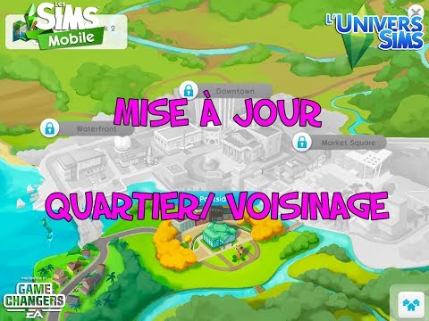 The Sims Mobile neighborhood quartier voisinage