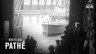 Launch Of Latest Motor Torpedo Boat At Hampton On Thames (1939)