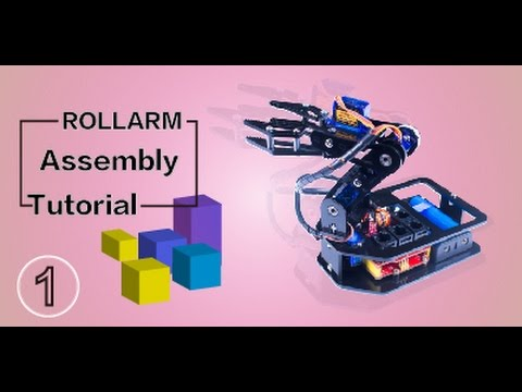 DIY Control Robot Arm Kit Rollarm for Arduino - Assembly Tutorial 01