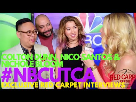 Colton Dunn, Nico Santos & Nichole Bloom #Superstore at NBCUniversal's Summer Press Tour #NBCUTCA