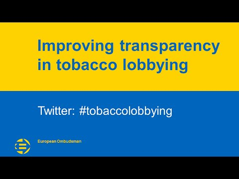 Improving transparency in tobacco lobbying