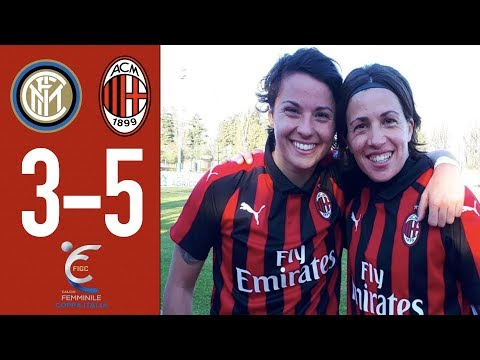 Highlights Inter 3-5 AC Milan - Round of 16 Women's Italian Cup 2018/19