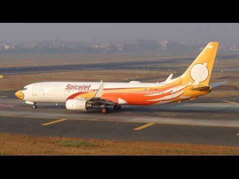 Leased from Nok Air, SpiceJet Boeing 737 Departs..