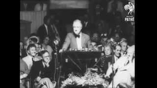 """Franklin D. Roosevelt (1936) """"I Hate War"""" Speech (Pathe)"""