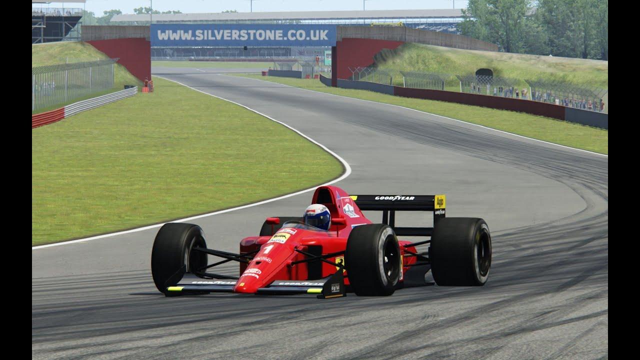 Ferrari 641, F1 1990, Silverstone, Alain Prost, Assetto Corsa, TV ...