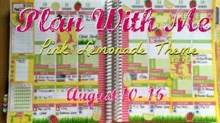 Plan With Me #5  // Pink Lemonade Theme