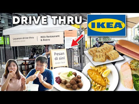 DRIVE THRU MAKANAN IKEA !! MAHAL TAPI BANYAK YANG NGANTRI !!