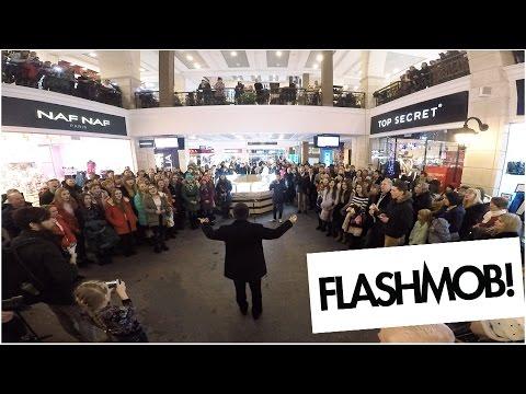 Рождественский Флешмоб В ТРЦ Французский Бульвар  Харьков 2017г