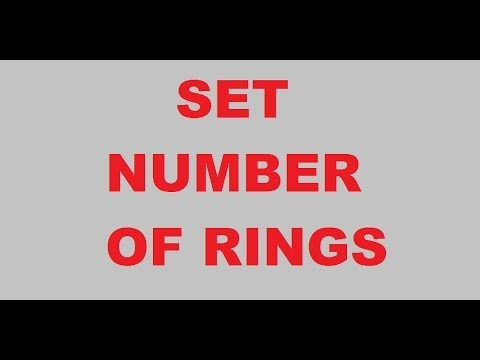 how to change number of rings on iphone