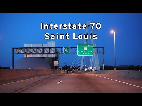 2017/06/12 - Interstate 70 St. Louis at Dusk [4K]