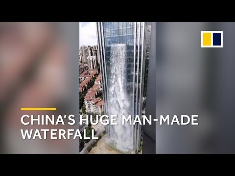 China's huge man-made waterfall doesn't come cheap