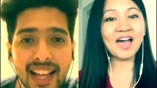 Theher Ja.. singing with Armaan Malik :)
