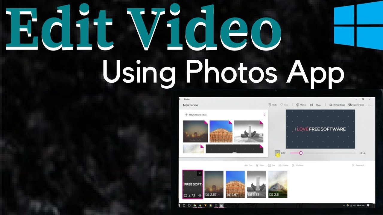 How to edit videos using the photos app in windows 10 youtube how to edit videos using the photos app in windows 10 ccuart Image collections